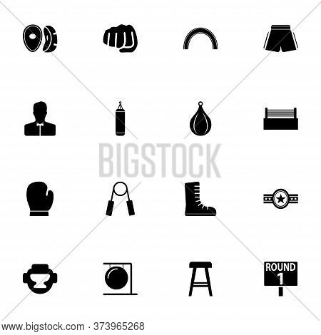 Boxing And Fighting Icon - Expand To Any Size - Change To Any Colour. Perfect Flat Vector Contains S
