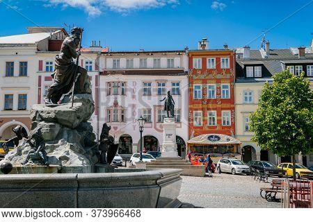 Krakonosovo Square Is The Main Square Of Old Town, Trutnov, Czech Republic- May 30, 2020
