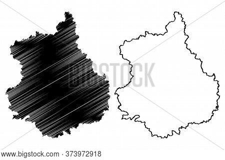 Eure-et-loir Department (france, French Republic, Centre-val De Loire Region) Map Vector Illustratio