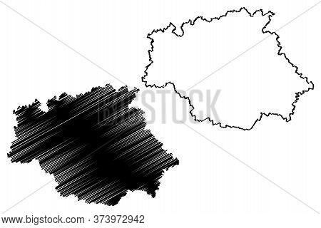 Gers Department (france, French Republic, Occitanie Or Occitania Region) Map Vector Illustration, Sc
