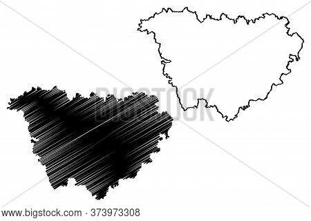 Haute-loire Department (france, French Republic, Auvergne-rhone-alpes Region, Ara) Map Vector Illust