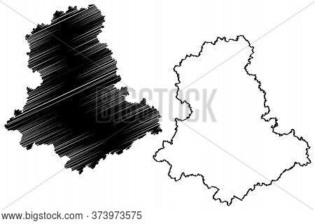 Haute-vienne Department (france, French Republic, Nouvelle-aquitaine Region) Map Vector Illustration