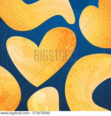 Creative Minimalist Hand Drawn Abstract Backgrounds. Modern Abstract Shapes In Contemporary Style Fo