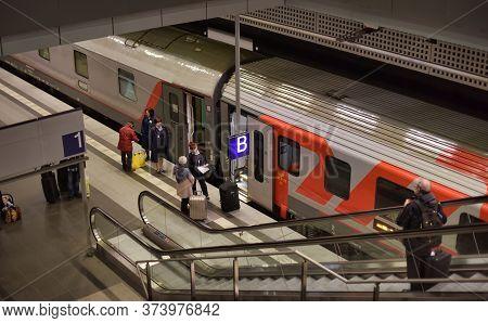 Berlin, Germany - 21.03.2015: Berlin Train Main Station (hauptbahnhof) In Berlin, Germany. The Main