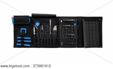 Set Of Professional Tools In A Case For Repairing Smartphones, Computers And Other Office Equipment