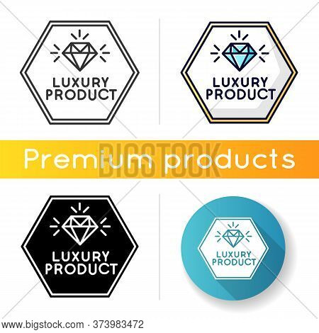 Luxury Product Icon. Linear Black And Rgb Color Styles. High Class Jewellery, Expensive Product. Jew