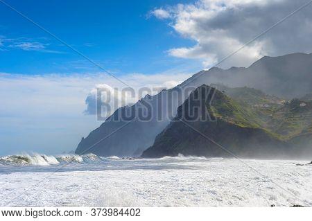 Beautiful Madeira Seaside Landscape. Madeira Island , Portugal