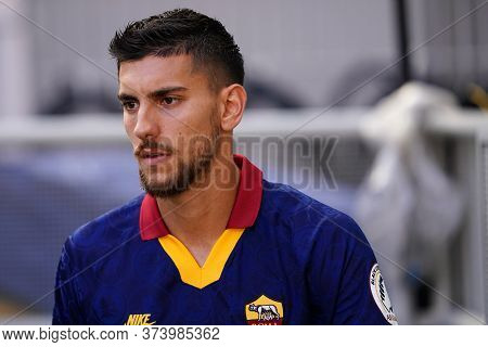 Milano (italy) 28th June 2020. Italian Serie A. Ac Milan Vs As Roma.  Lorenzo Pellegrini Of  As Roma
