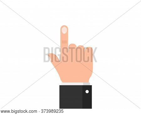 Clicking Hand. Finger Touching And Pressing. Tap And Touch Icon. Isolated Cursor Point. Arm Pressing