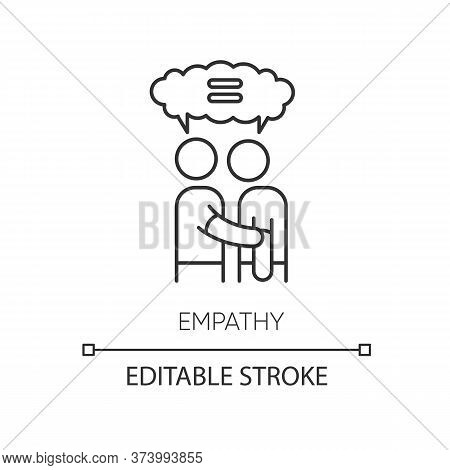 Empathy Pixel Perfect Linear Icon. Thin Line Customizable Illustration. Strong Emotional Bond, Inter