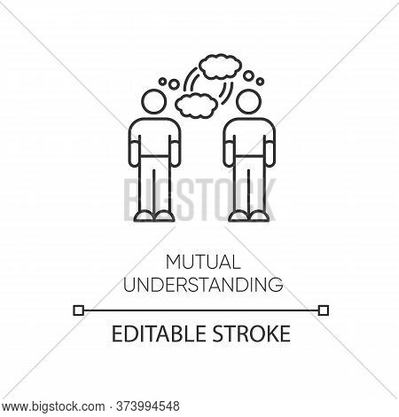 Mutual Understanding Pixel Perfect Linear Icon. Thin Line Customizable Illustration. Psychological C