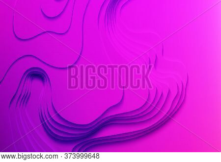 Retro Futuristic Layout Template In 1980s Style. Cyberpunk Background. Color Waves. Vector Abstract