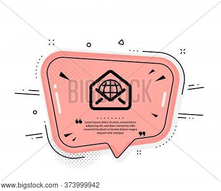 Web Mail Icon. Quote Speech Bubble. Message Correspondence Sign. E-mail Symbol. Quotation Marks. Cla