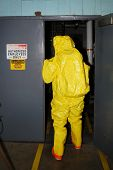 A level entry into an Ammonia environment during Haz Mat team training. poster