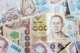 Background Of 1000 Thb Thai Baht Value Close Up