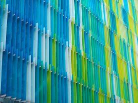 Acrylic Plastic Sheet Interior Vertical Line Color Yellow Blue Aqua