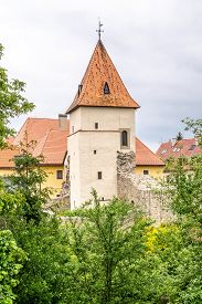 View At The Closter Bastion In Bardejov Town - Slovakia