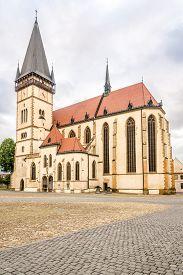 View At The Basilica Of St.aegidius In Bardejov - Slovakia