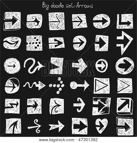 Hand drawn set - arrows
