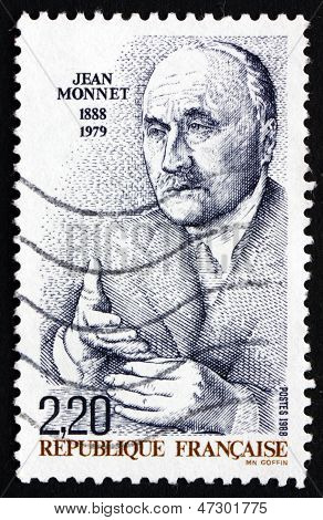 Briefmarke Frankreich 1988 Jean Monnet, Ehrenbürger Europas