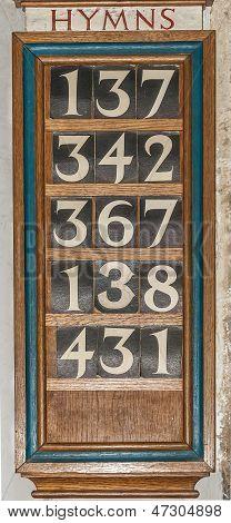 Wooden Hymn Board
