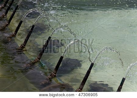 Fountain water splashing in Monte Carlo, Monaco