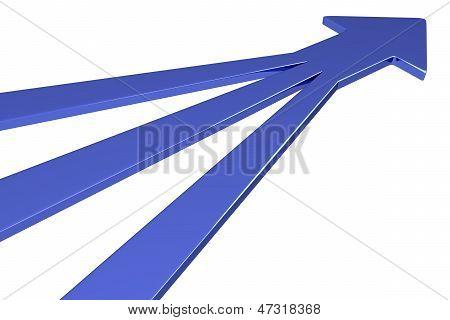 3D Blue Arrows