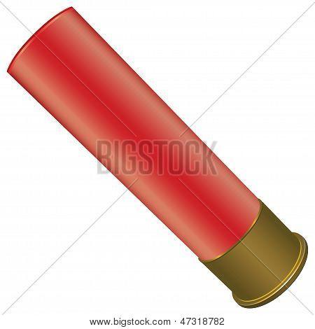 Shotgun Shell for sport hunting. Vector illustration. poster