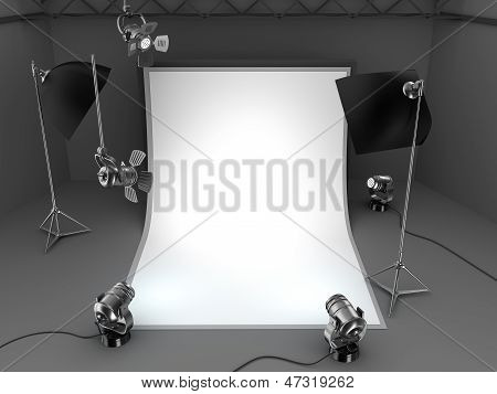 Foto-Studio-Ausrüstung-Hintergrund