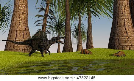 spinosaurus hunting eurohippus
