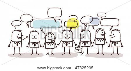 business people and social network