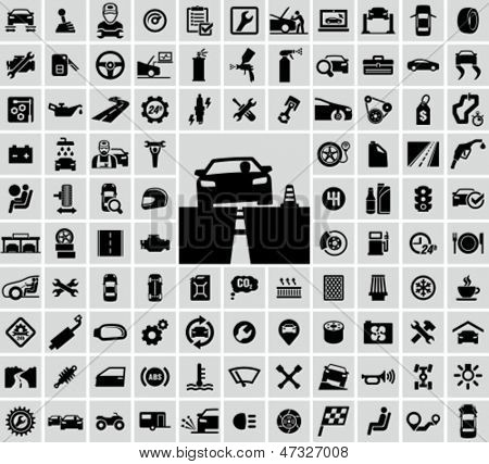 Vector auto icons set
