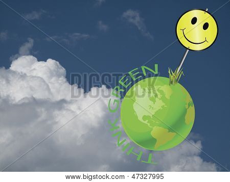 Happy earth sign