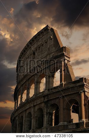 Ruins Of Great Stadium Colosseum, Rome, Italy