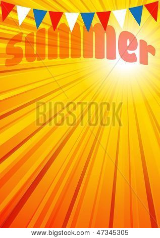Summer Background, Leaflet, Flyer, Poster