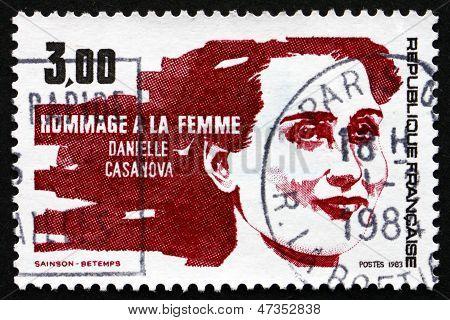 Postage Stamp France 1983 Shows Daniele Casanova, Resistance Leader