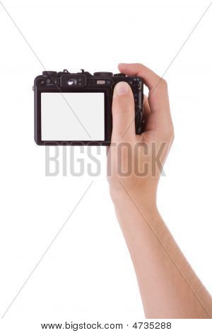 Hand Photographic With A Digital Camera