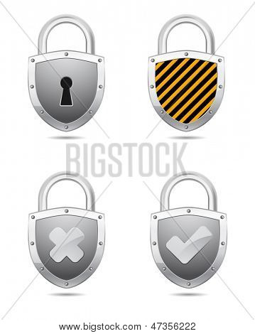 padlock icon with symbol