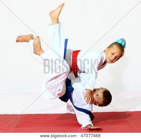 Professionally good sport karate kids