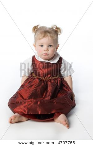 Toddler In Red