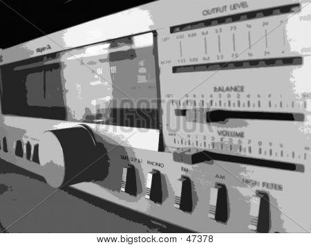 Stereo Raster-Illustration