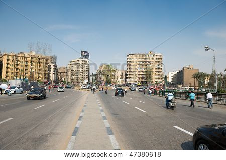 The famous Tahrir square in Cairo Egypt.