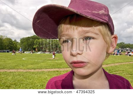 Young handsome baseball player