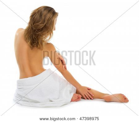 Young helathy girl isolated on white