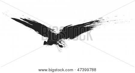 An image of a grunge black bird