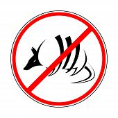 sign prohibiting armadillo. This is file of EPS8 format. poster
