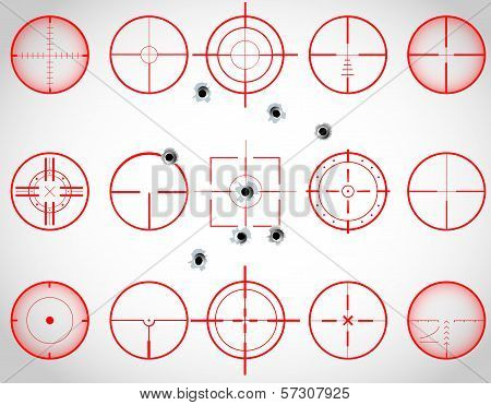 Red crosshairs