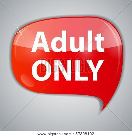 Warning Adult Only for xxx concept Vector Illustration