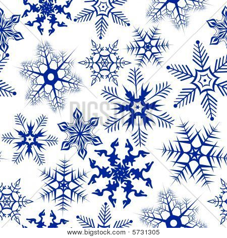 Background with snowflakes. Vector illustration