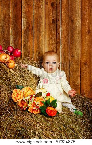 Baby In Hay